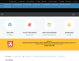 rggi.edu.in screenshot