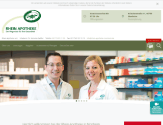 rhein-apotheke-monheim.de screenshot