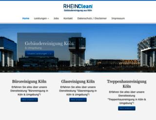 rheinclean-gmbh.de screenshot