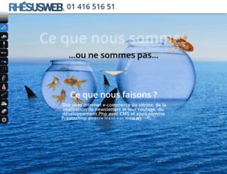 rhesusweb.com screenshot
