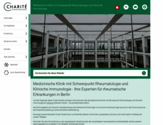 rheumatologie.charite.de screenshot