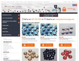 rhinestoneshop.com screenshot