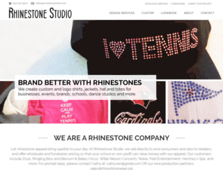 rhinestonestudio.com screenshot
