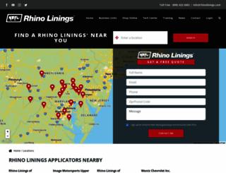 rhinotruckbedliners.com screenshot