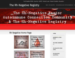 rhnegativeregistry.com screenshot