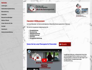 rhode-bausanierung.de screenshot
