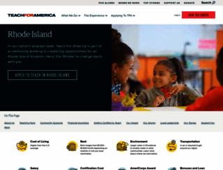 rhodeisland.teachforamerica.org screenshot