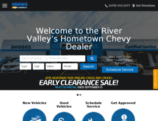 rhodeschevy.com screenshot