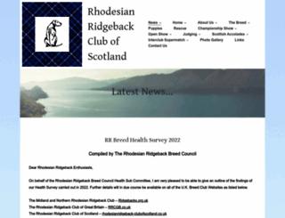 rhodesianridgeback-clubofscotland.co.uk screenshot