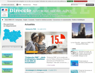 rhone-alpes.direccte.gouv.fr screenshot