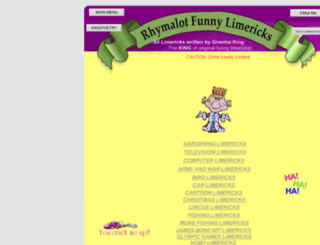 rhymalot.com screenshot