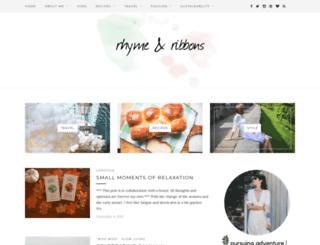 rhymeandribbons.com screenshot
