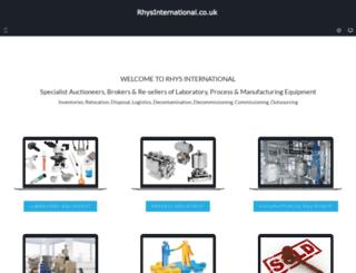 rhysinternational.co.uk screenshot