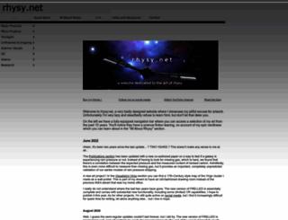 rhysy.net screenshot