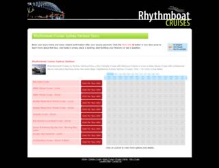 rhythmboat.tourstogo.com.au screenshot