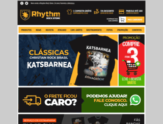 rhythmrockstore.com screenshot