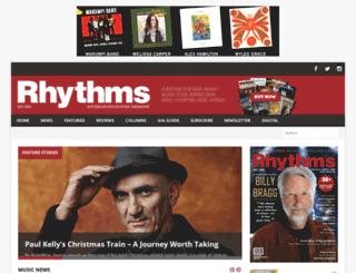 rhythms.com.au screenshot
