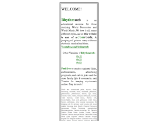 rhythmweb.com screenshot