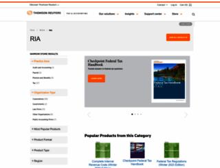 ria.thomsonreuters.com screenshot