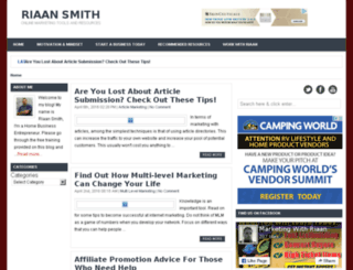 riaansmith.com screenshot