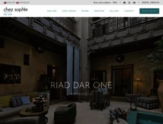 riad-dar-one.com screenshot