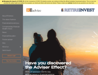 riadvice.com.au screenshot