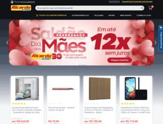 ricardoeletro.com screenshot