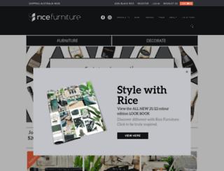 ricefurniture.com.au screenshot