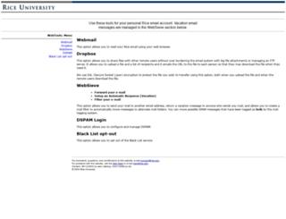 ricemail.rice.edu screenshot