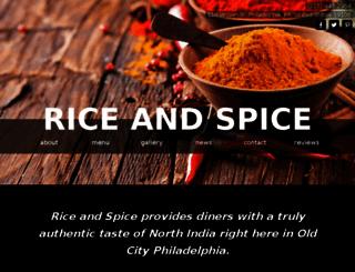 ricespice.pagevamp.com screenshot