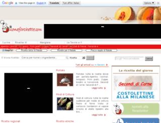 ricetta.buoneforchette.com screenshot
