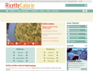 ricette-calorie.com screenshot