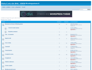 ricettegustose.forumattivo.com screenshot