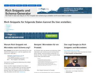 rich-snippet-generator.de screenshot