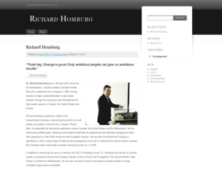 richardhomburg.wordpress.com screenshot