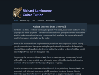 richardlambourneguitartuition.co.uk screenshot