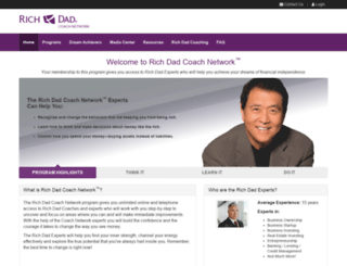 richdadcoachnetwork.com screenshot