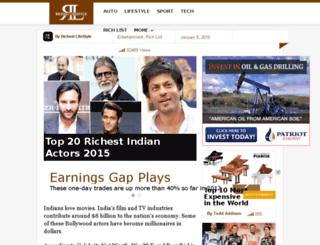 richestindianactors.com screenshot