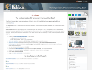 richfaces.org screenshot