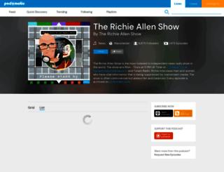 richieallen.podomatic.com screenshot