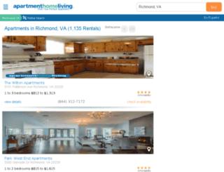 richmond.apartmenthomeliving.com screenshot