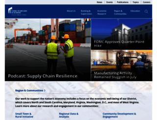 richmondfed.org screenshot