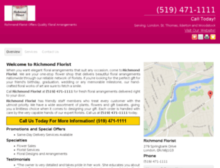 richmondfloristson.ca screenshot