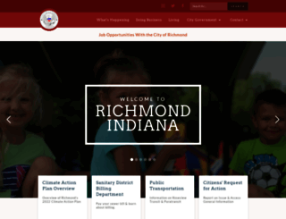 richmondindiana.gov screenshot