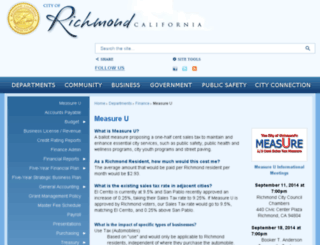 richmondmeasureu.com screenshot