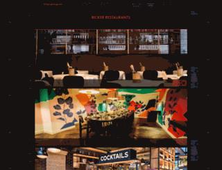 rickerrestaurants.com screenshot