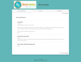 rickiheller.acuityscheduling.com screenshot