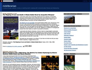 ricklibrarian.blogspot.com screenshot