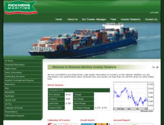 rickmers.listedcompany.com screenshot