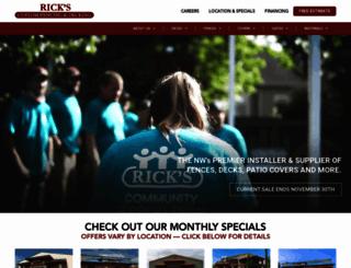 ricksfencing.com screenshot